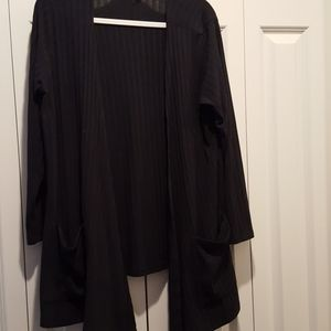 XL solid black, ribbed material Caroline